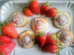 biscottini di frolla alle fragole