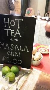 Masala chai at Borough Market, London