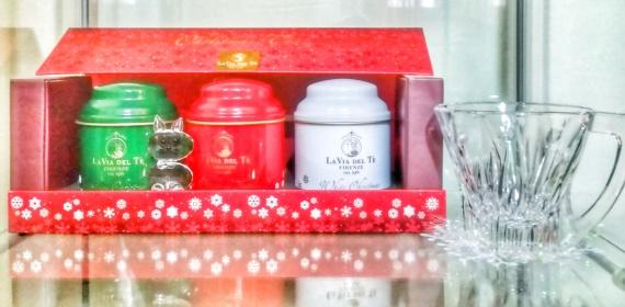 Il cofanetto di tre té di Natale della Via del Té