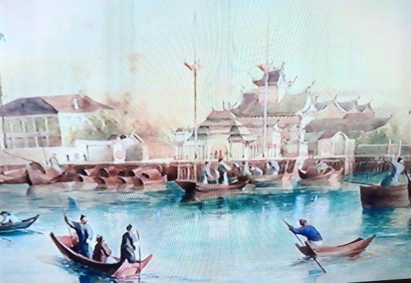 Un porto cinese nell'Ottocento